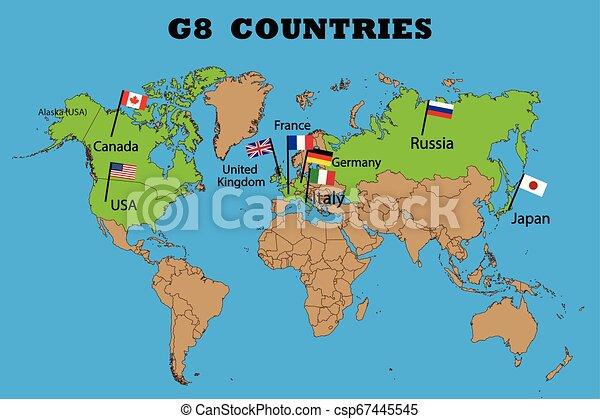 g8, leden, kaart, groep - csp67445545
