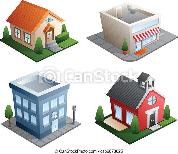 gebouw, illustraties - csp6873625