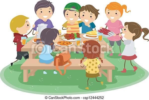 geitjes, picknick - csp12444252