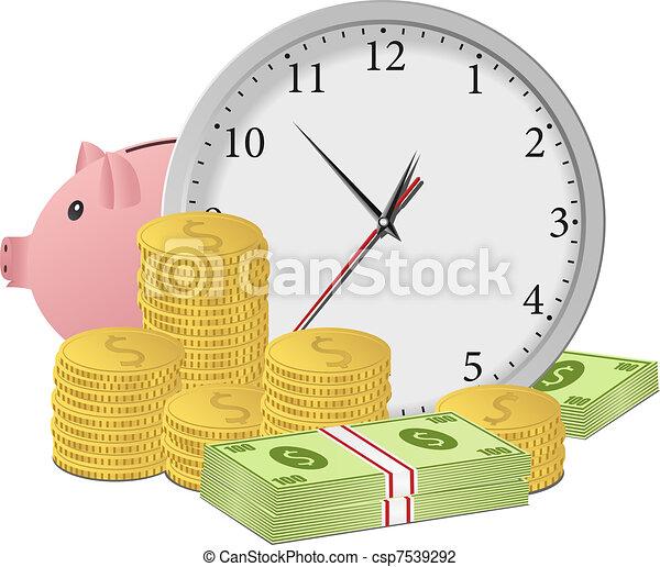 geld, concept, tijd - csp7539292