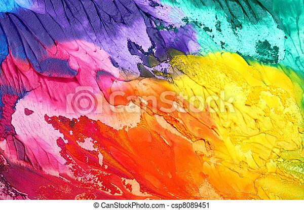 geverfde, abstract, acryl, achtergrond - csp8089451