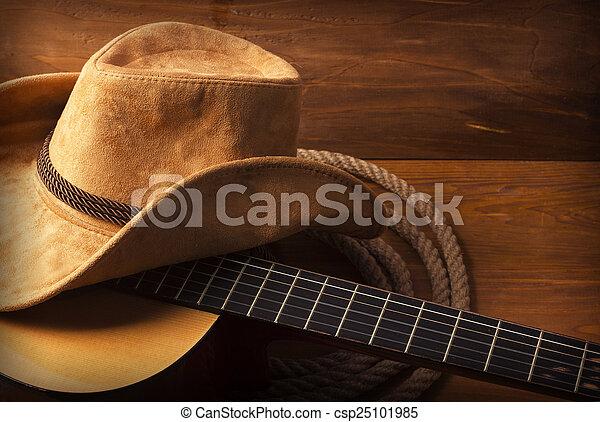 gitaar, land muziek, achtergrond - csp25101985