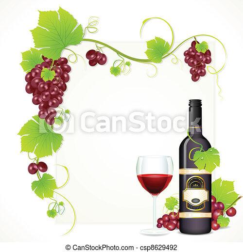 glas fles, wijntje - csp8629492