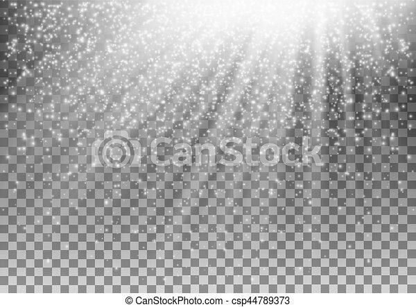 gloeiend, vector, achtergrond., effect, transparant, licht - csp44789373