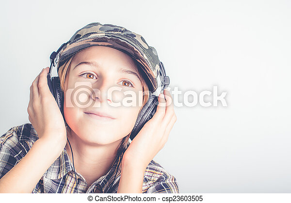goed, muziek, luisteren - csp23603505