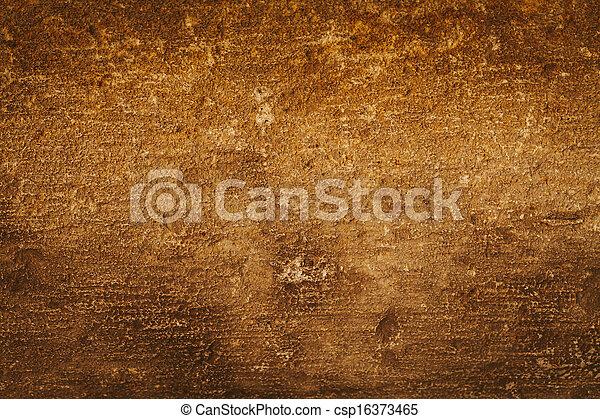 gouden, grunge, muur - csp16373465
