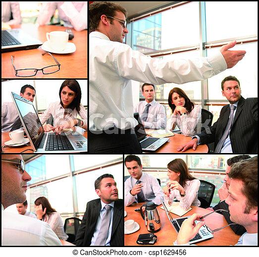 groep, brainstorming, zakelijk - csp1629456
