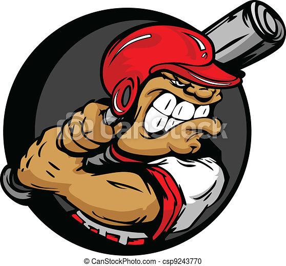 helm, vleermuis, volhardend, speler, honkbal, vasthouden - csp9243770