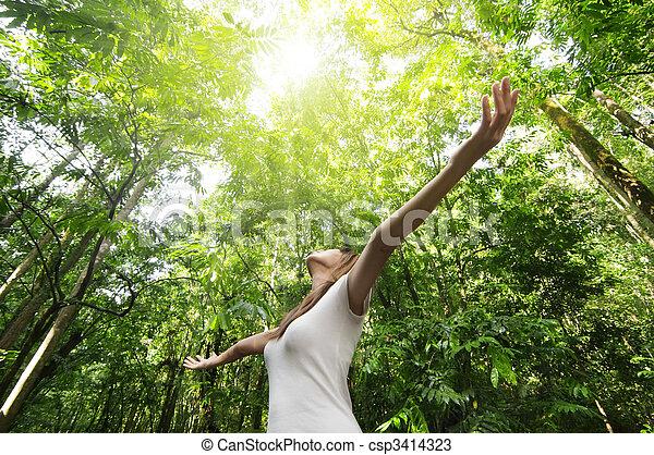 het genieten van, natuur - csp3414323