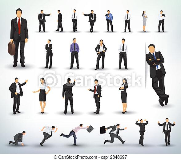 illustraties, zakenlui - csp12848697