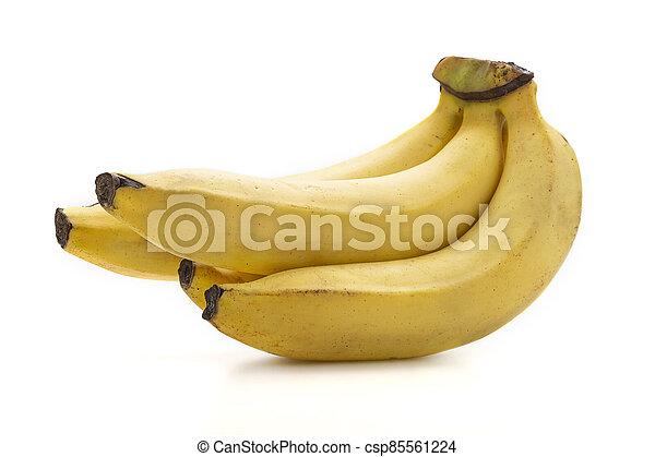 isoleren, achtergrond., dichtbegroeid boven, witte , banaan - csp85561224