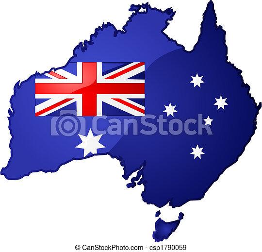 kaart, australië - csp1790059