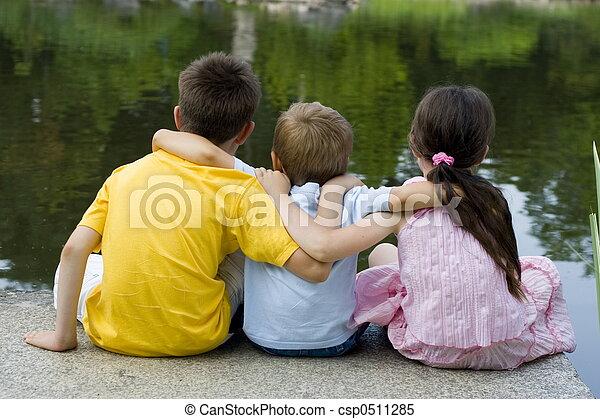 kinderen, meer - csp0511285
