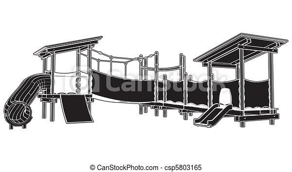 kinderen, speelplaats - csp5803165