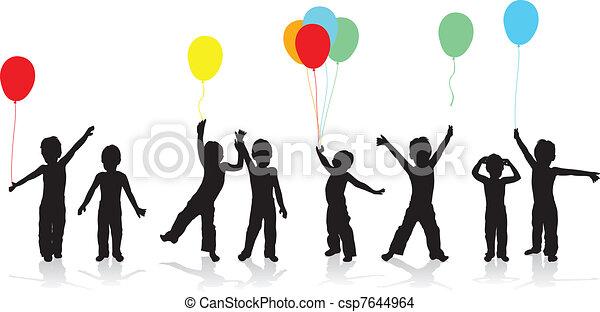 kinderen spelende - csp7644964