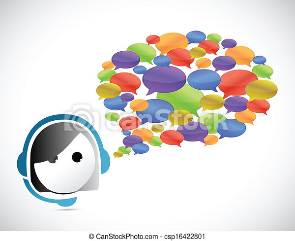 klant, communicatie, concept, dienst - csp16422801