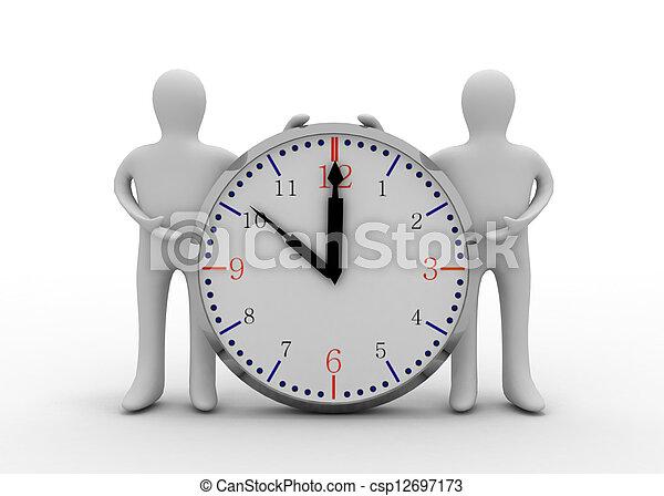 klok, 3d, man - csp12697173