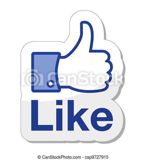 knoop, facebook, informatietechnologie, zoals - csp9727915