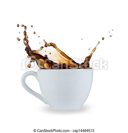 koffie, gespetter - csp14484513