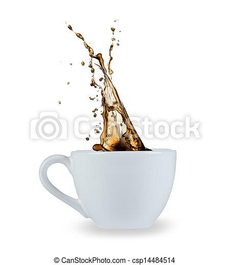 koffie, gespetter - csp14484514
