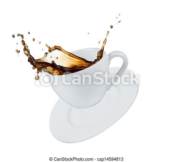 koffie, gespetter - csp14594813