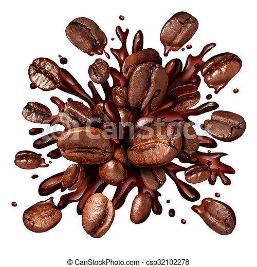 koffie, gespetter - csp32102278
