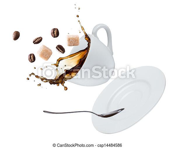 koffie, gespetter - csp14484586