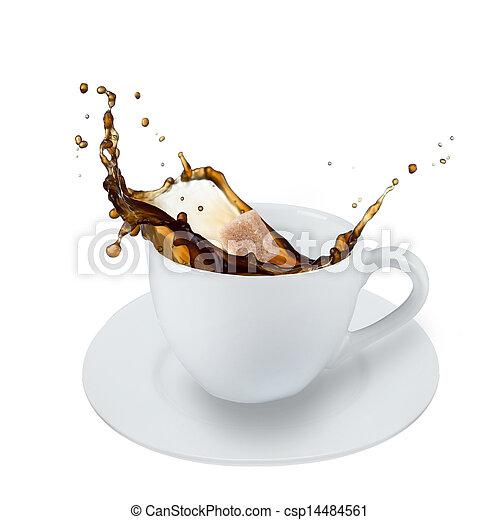 koffie, gespetter - csp14484561