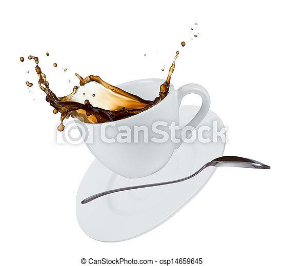 koffie, gespetter - csp14659645