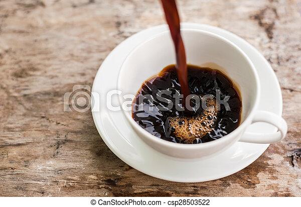 koffie, gespetter - csp28503522