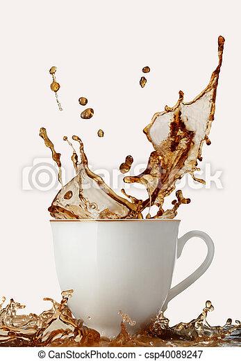koffie, gespetter - csp40089247