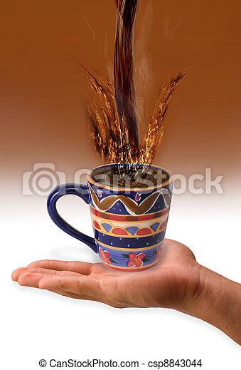 koffie, gespetter - csp8843044