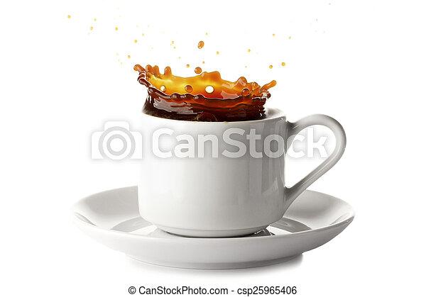 koffie, gespetter - csp25965406