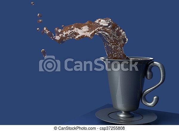 koffie, gespetter - csp37255808