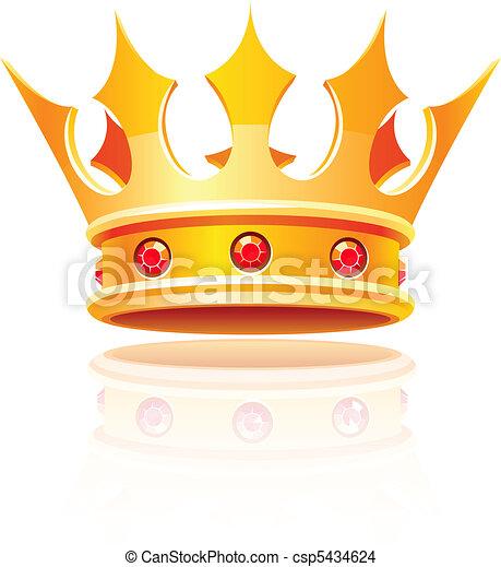koninklijke kroon, goud - csp5434624
