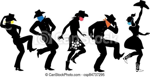 land, dans, maskers, westelijk - csp84737295