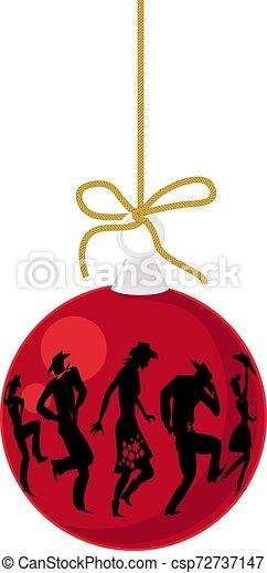 land, ornament, westelijk, kerstmis - csp72737147