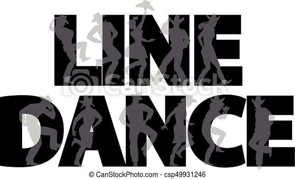lijnen dans, spandoek - csp49931246