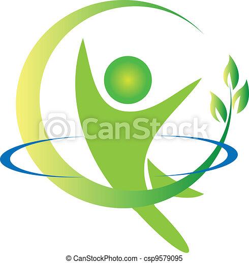 logo, vector, gezondheid, natuur - csp9579095