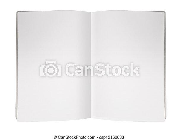 magazine, pagina, leeg - csp12160633