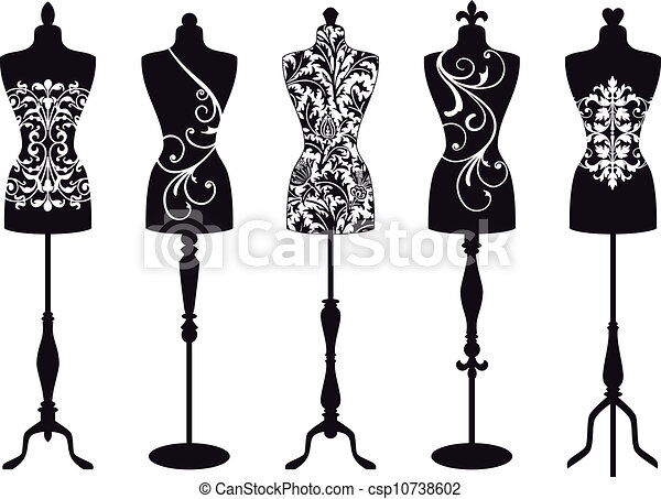 mannequins, vector, mode, set - csp10738602