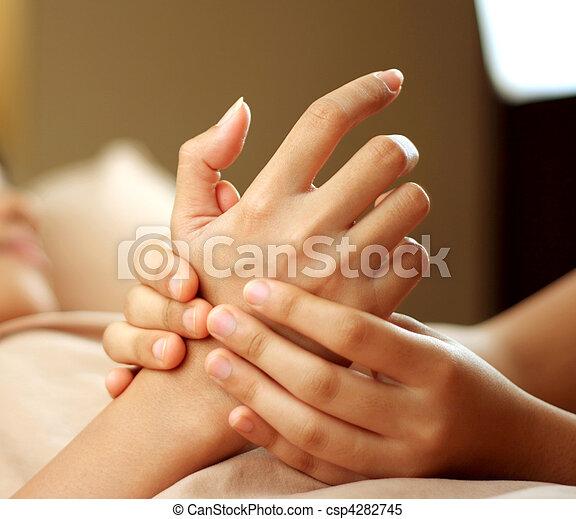 masseren, hand - csp4282745