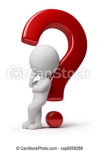 mensen, -, vraag, gecompliceerd, kleine, 3d - csp6258288