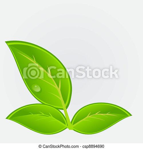 milieu, vector, plant., illustratie, pictogram - csp8894690