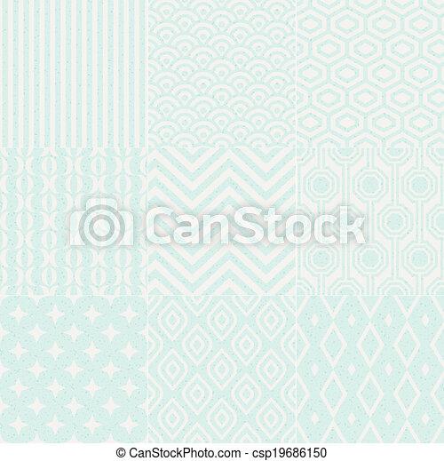 model, geometrisch, seamless, textured - csp19686150