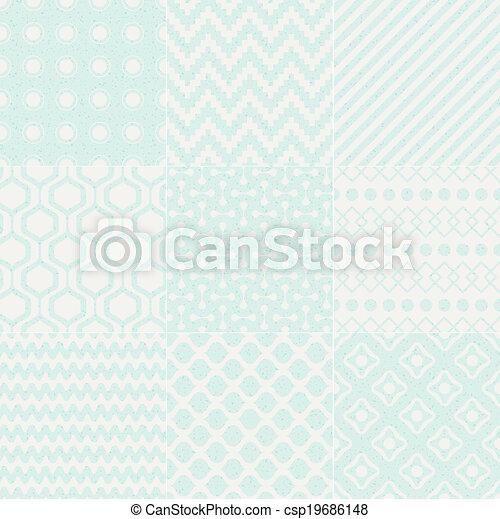 model, geometrisch, seamless, textured - csp19686148