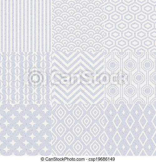 model, geometrisch, seamless, textured - csp19686149