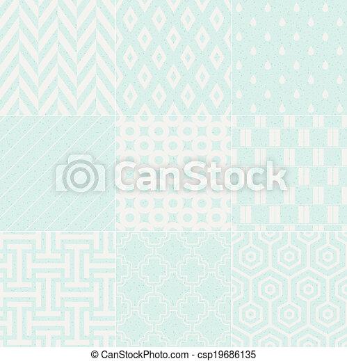 model, geometrisch, seamless, textured - csp19686135