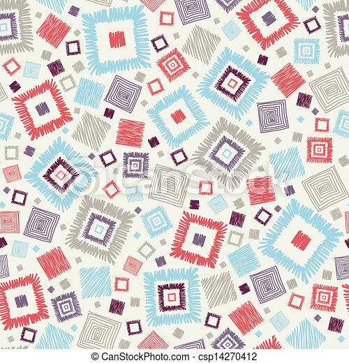 model, seamless, achtergrond, textured, geometrisch, pleinen - csp14270412
