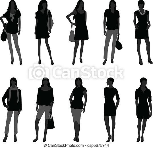 model, vrouw winkelen, mode, vrouwlijk - csp5675944